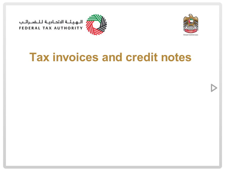 Tax Invoices and Credit Notes