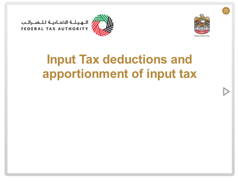 Input Tax Deductions and Apportionment of Income Tax