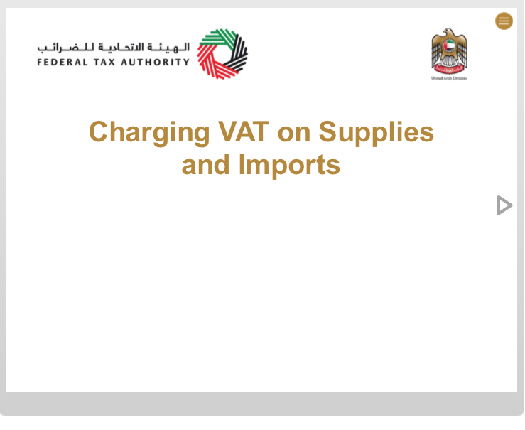 Charging VAT on Supplies and Imports