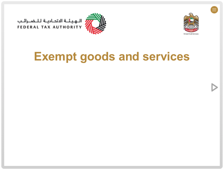 Exempt Goods and Services