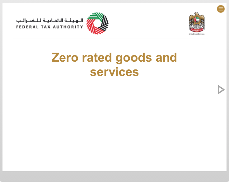 Zero Rated Goods and Services
